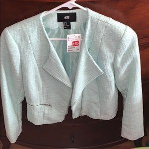 Sparkly mint green H&M blazer